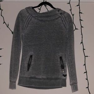 ROXY brand gray hoodie